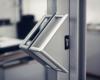 Porta di ferro e vetro per attività commerciale - Gori